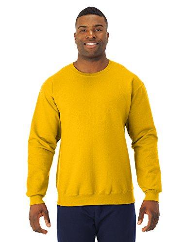 JERZEES - Crewneck Sweatshirt. 562M, MEDIUM, Gold