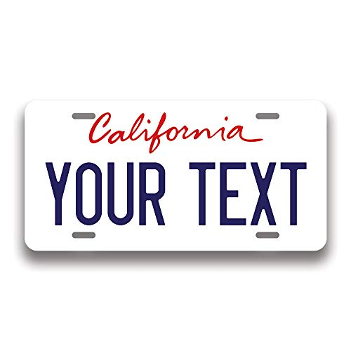 Generic Custom 50 State License Plate | Custom Fake License Plate for Front of Car | Personalized Custom Car Tags | Choose from All 50 States | 6 x 12 Inch | Crafted in USA (California)