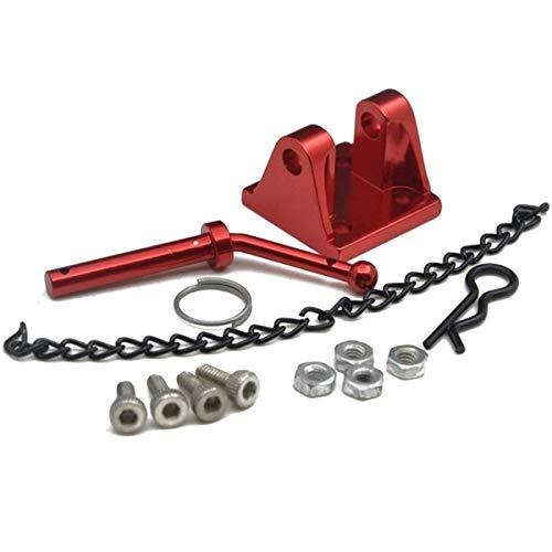 Zimaes Ausgezeichnet RC-Auto-Metall-Schlepper-Anhänger-Anhängerhaken für 1/10 RC für Crawler Axial SCX10 90046 für Traxxas TRX4 für Tamiya CC01 D90 D110 LKW-Teile Glatt (Color : Red)