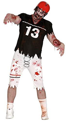 shoperama Disfraz de zombie quarterback para hombre de fútbol americano, atletas, Halloween, terror, talla: L