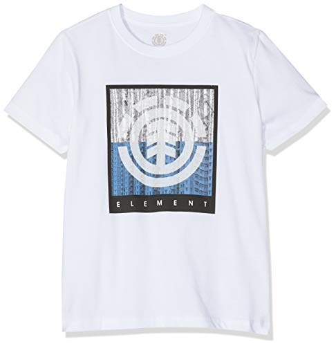 Element Density SS Boy tee Shirt, Niños, Optic White, 12
