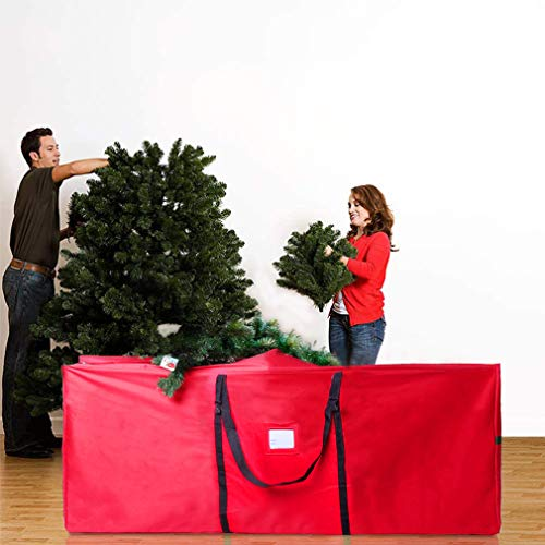 Large Christmas Tree Storage Bag Fits 7.5 Ft Disassembled Artificial Tree 600D Oxford Waterproof Christmas Storage Bag with Handles for Christmas Tree, 50'x15'x20' Christmas Decoration Storage Bag