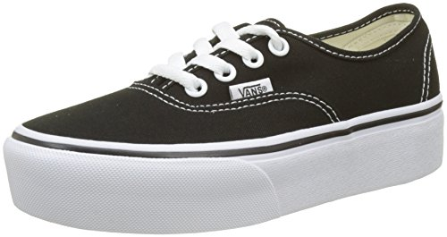 Vans Damen Authentic Platform 2.0 Sneaker, Schwarz (Black Blk), 38.5 EU