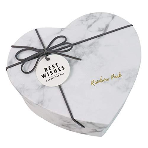 CRYA Geburtstags-Geschenk-Box, Heart-Shaped Dekoration Box, personalisierte Verpackung Aufbewahrungsbehälter, klare und natürliche Textur, for Valentinstag-Partei Jahrestag, Grau