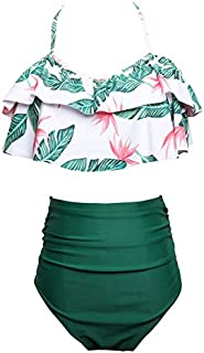 Summer Ladies Swimwear Print High Waist Design Bikini Casual Style Swimsuit For Women