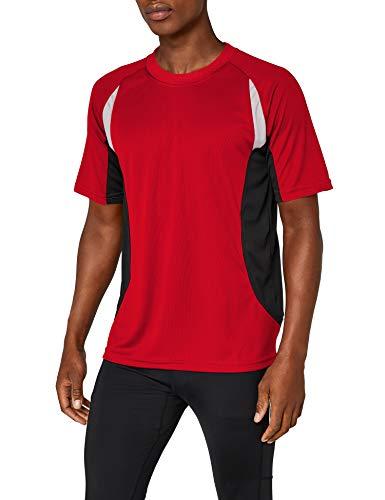 James & Nicholson Herren kurze Ärmel T-Shirt Running T rot (red/black) Large
