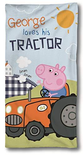 SkyBrands Peppa Wutz - Peppa Pig - Toalla de Baño, 75x150 cm, George Tractor