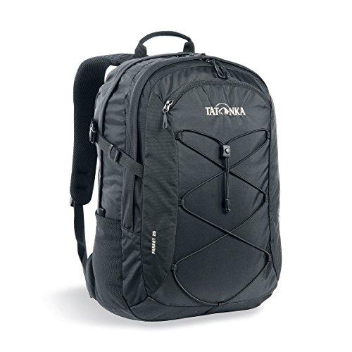 Tatonka Laptop-Rucksack Parrot 29 - Daypack mit 15 Zoll Notebookfach - bietet Platz für mehrere DIN A4-Ordner - für Damen und Herren - 29 Liter - schwarz