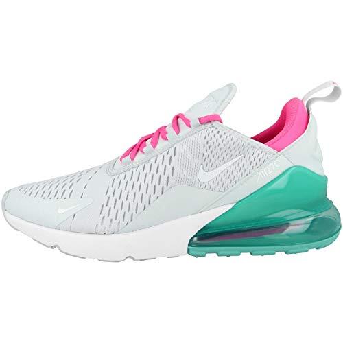 Nike Air MAX 270, Zapatillas de Atletismo Mujer, Multicolor Pure Platinum White Ink Blast 065, 37.5 EU