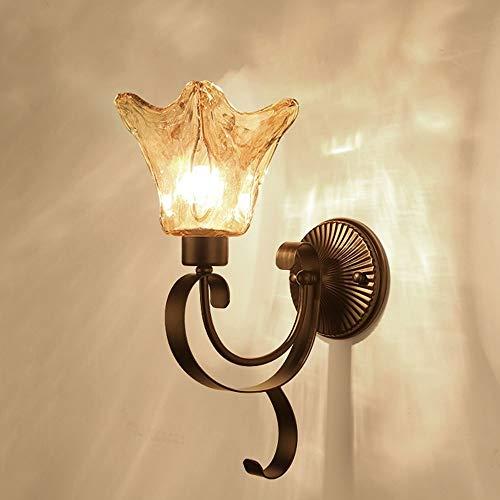 Wandlamp voor badkamer, slaapkamer, entree, van glas, brons, goudkleurig