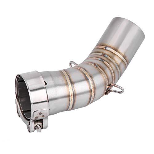 KIMISS Sistema de tubo de escape completo de la motocicleta, Enlace del tubo medio para Z900 2017-2018