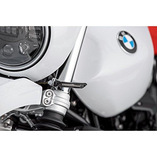 Hashiru Motorrad Blinker E geprüft LED Lauflicht-Blinkerpaar ST01 M8 schwarz, getöntes Glas
