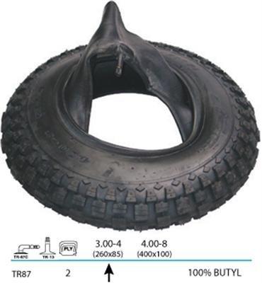 Mantel + Schlauch SET f SACKKARRE Reifen Decke 260 x 85mm Autoventil Bollerwagen
