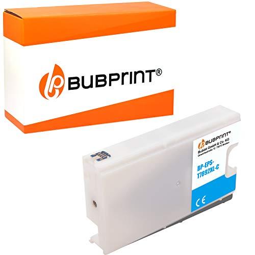 Bubprint Druckerpatrone kompatibel für Epson T7892 WorkForce Pro WF-5100 Series WF-5110DW WF-5190DW WF-5600 Series WF-5620DWF WF-5690DWF Cyan Neue Chip Version