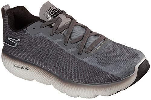Skechers Men's Max Road 4 Running Shoe, Grey/Black - 8H
