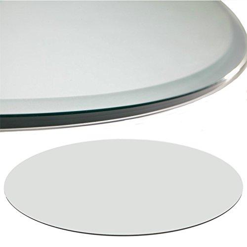 Euro Tische Glasplatte für Kaminofen rund - Glasscheibe mit 6mm ESG Sicherheitsglas - perfekt geeignet als Funkenschutzplatte - Verschiedene Größen (60 cm, Klarglas)
