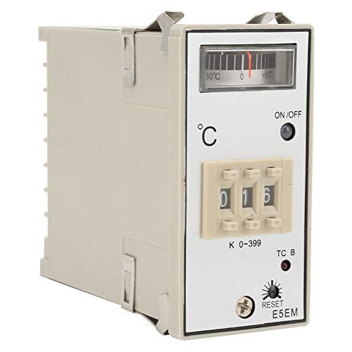 Controlador de temperatura del tipo de puntero E5EM-YR40K Tipo K-Tipo Controlador de temperatura AC220 / 380V 0-399 ℃, E5EM-YR40K Tipo de puntero Controlador de temperatura K-Tipo Controlador de