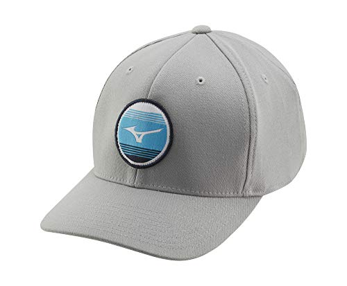 Mizuno 919 Snapback Golf Hat, Light Grey, One Size