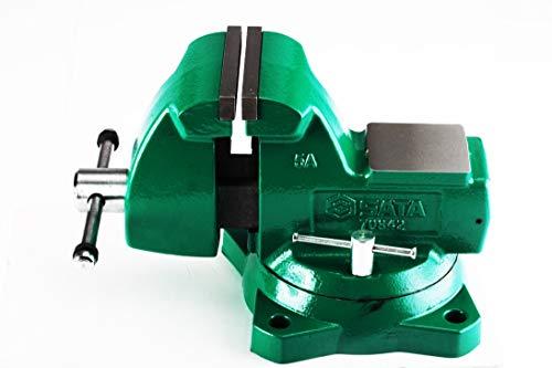 SATA ST70845SC Tornillos de Banco de Acero Cuadrados para Trabajo Pesado de 8'con mordaza reemplazable