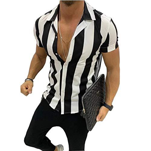 Camisa de Manga Corta para Hombre Business Vestir De Negocios Estilo Informal Slim Fit Camisa Elástica Formal Casual para Hombre