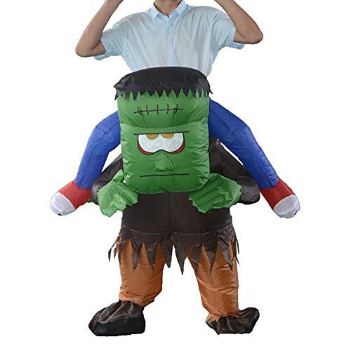SSeir Halloween Frankenstein Aufblasbar Kostüm Gehen Anschlüsse Puppenanzug Cosplay Lustig Erwachsene Kleider Party Zusammenkommen Aktivität Atmosphäre