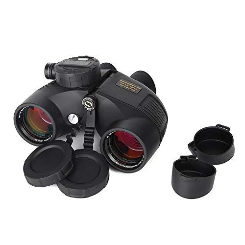 Fernglas Entfernungsmesser Nachtsicht Fernglas, 7 x 50 wasserdichtes Nachtsicht-Jagd Entfernungsmesser HD Ferngläser mit Kompass-Entfernungsmesser für Navigation, Bootfahrt, Wassersport