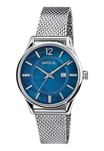 Reloj BREIL Mujer Contempo Esfera Azul e Correa in Acero, Movimiento Solo Tiempo - 3H Cuarzo