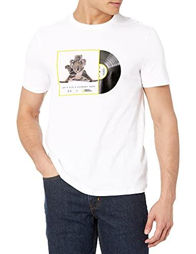 ARMANI EXCHANGE Organic And Recycled Cotton White Koalas T-Shirt, XXL Uomo