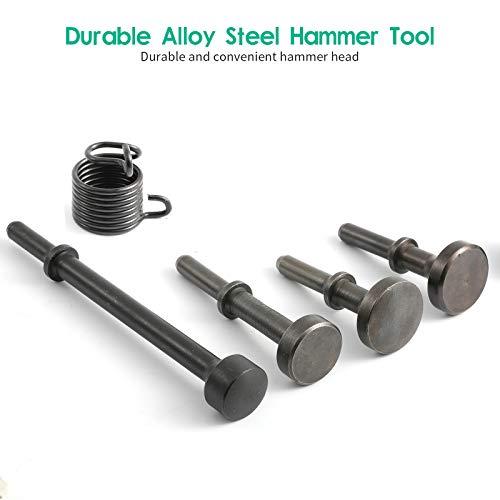 Anndason 5 Pcs Smoothing Pneumatic Air Hammer Pneumatic Chisel Bits Tools Kit