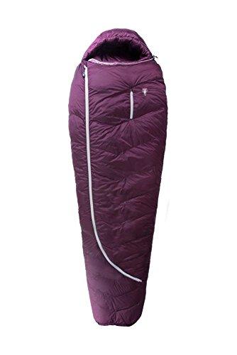 Grüezi-Bag Biopod DownWool Subzero 175 Schlafsack, Almwolle-Daunenfüllung, 200 x 77 x 50 cm, 1775g, Packmaß Ø 21 x 35 cm, Camping/Hütte/Zelten, Berry