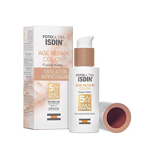 FotoUltra Isdin Age Repair Color SPF 50, Protector Solar Facial con Color y Triple Acción Antifotoenvejecimiento, Cobertura Natural, Disimula Imperfecciones, 50 ml