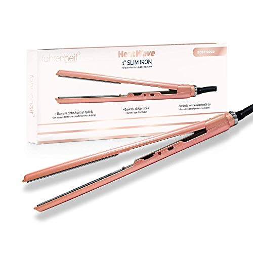 Fahrenheit Heat Wave 1 Inch Titanium Plated Professional Ultra Thin...