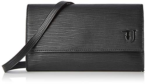 Trussardi Jeans Damen T-easy City Clutch Monoclor Schwarz (Black), 14x24x1 centimeters