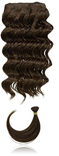 chear Français vague trame Extension de cheveux humains avec de mélange tissage, numéro 4, Taille M, marron foncé 30,5 cm