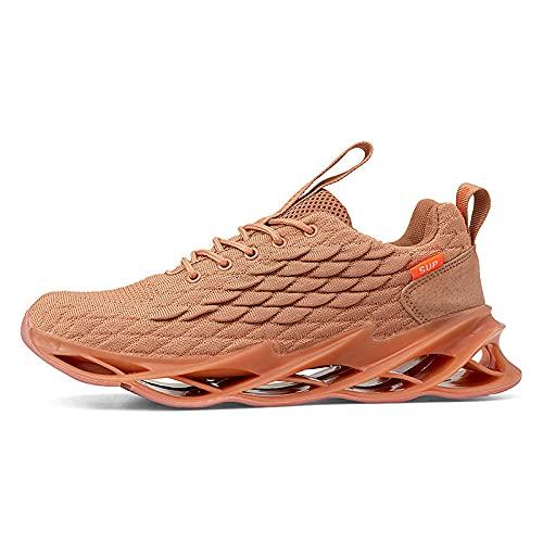 Laufschuhe für Männer und Frauen,Red de Zapatos para Correr de Gran tamaño, colchón de Aire para Caminar, Zapatos de Fitness-Amarillo_44,Zapatos para Correr de Aire para Mujer