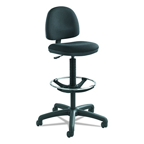 Safco Products Precision Extended Height Chair with Footring (Additional options sold separately), Black