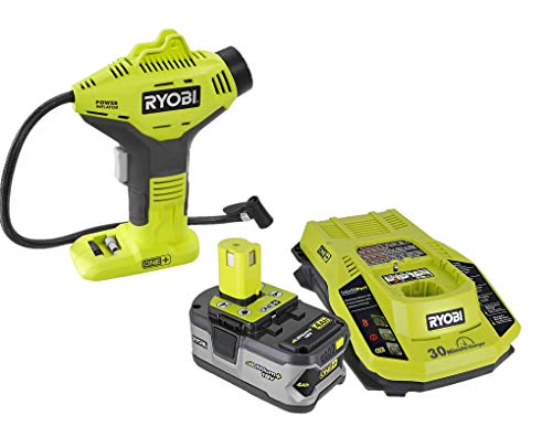 Ryobi 18-Volt ONE+ Cordless Power Inflator with Battery and Charger Combo (Bulk Packaged)