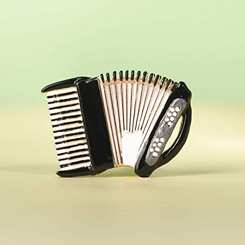 YXFYXF Broche Esmalte acordeón formado músico Broche Pin Dorado Instrumento Musical Instrumento...