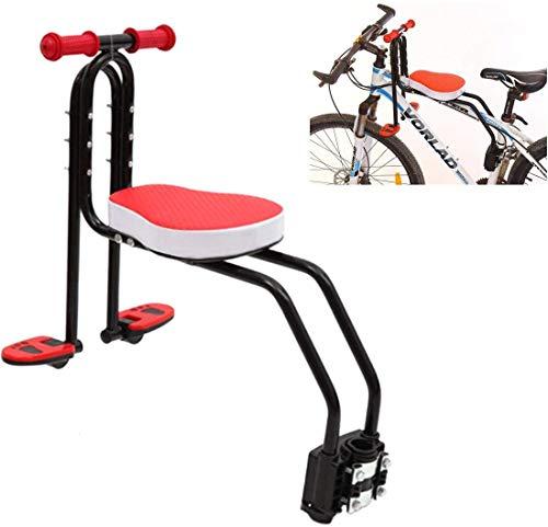 Nobran Kindersitz Fahrrad,Abnehmbar Fahrradkindersitz Vorne mit Pedal und Griff,Mountainbike Kindersitz Fahrradsitz Kinder für (Rosa)