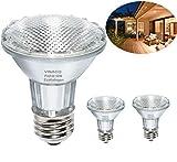 Par20 Bulbs, 2 Pack 120V 50W Par20 Flood Light Bulbs, E26 Medium Base Long Lasting Life High Output Reflector Flood Lights -Warm Light