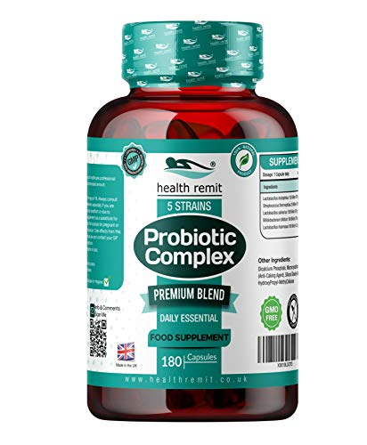 Health Remit's Probiotics Complex | Multi Strains Formula |1 Billion CFU Per Capsule | Vegan & Non-GMO Probiotic Supplement | 180 Serving | Made in UK