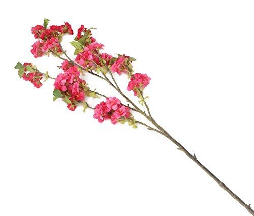 Floral Elegance Artificiel 129 cm Tige Unique Cerise Japanese Cherry Blossoms X 6 – Artificiel de Luxe Plage de Fleur en Soie