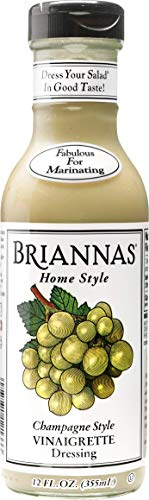 BRIANNAS Champagne Vinaigrette Dressing, 12 Fl Oz | GLUTEN Free, VEGETARIAN, KOSHER Salad Dressing Made in Small Batches