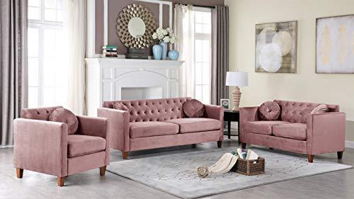 US Pride Furniture Sofas, Rose