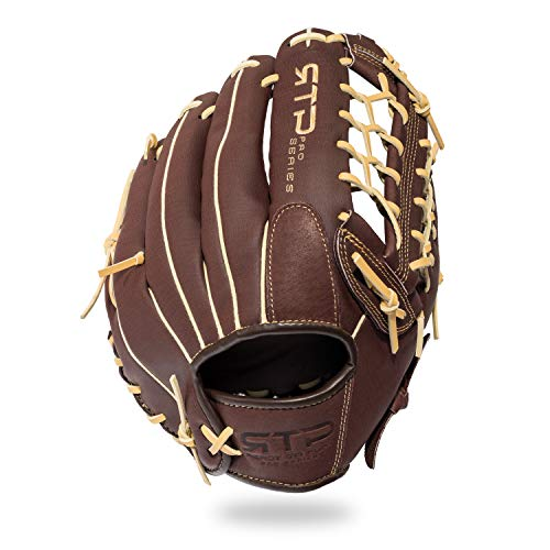 Franklin Sports Baseball-Handschuhe – RTP Pro Baseball-Felding-Handschuh – Infield, Outfield Handschuhe, Unzutreffend, 12.0 BWN/Camel Pig BBG REG, braun, 12 Inches
