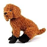 Scarpe per Cani Stivali da Pioggia per Cani Stivali di Gomma Scarpe in Silicone Impermeabili per Cani Protezione per Zampe Cuccioli di Cane Antiscivolo