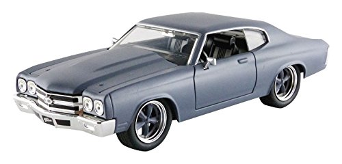 Jada Toys - 97835G - Chevrolet Doms Chevelle SS - Fast And Furious - Échelle 1/24 - Gris Mat