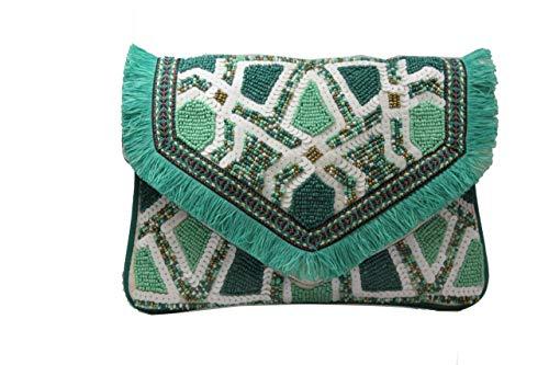 Sitara Bolso Boho Chic Verde Turquesa