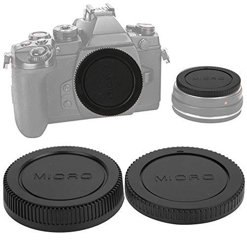 Tappo anteriore corpo fotocamera + kit copriobiettivo fotocamera, 3 coppie di lenti portatili in plastica Coperchio posteriore corpo kit tappo anterio