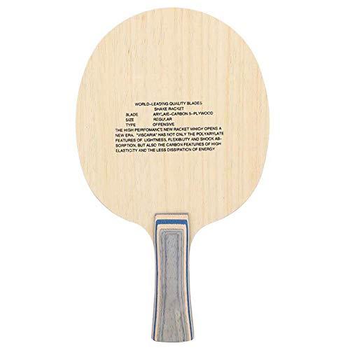 VGEBY1 1 PC Raqueta de Tenis de Mesa Profesional Penhold/Shakehand Ping Pong Bat Wood Carbon Ping Pong Paddle Tenis de Mesa Paddle para competición de Ping Pong(Fila Recta)